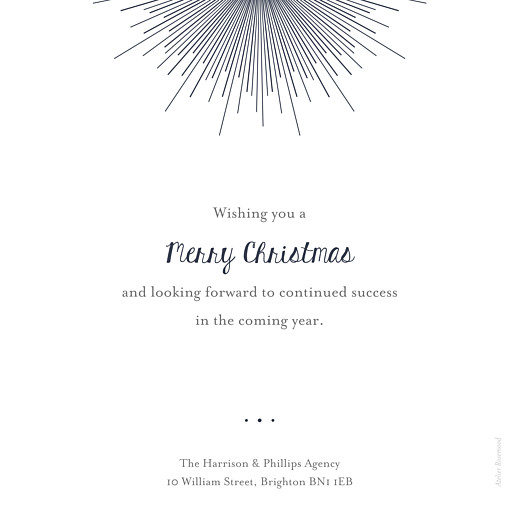 Business Christmas Cards Lumière (foil) midnight blue - Page 2