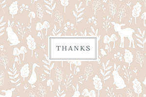 Fable (small) pink beige baby thank you cards