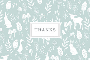 Fable (small) blue christening baby thank you cards