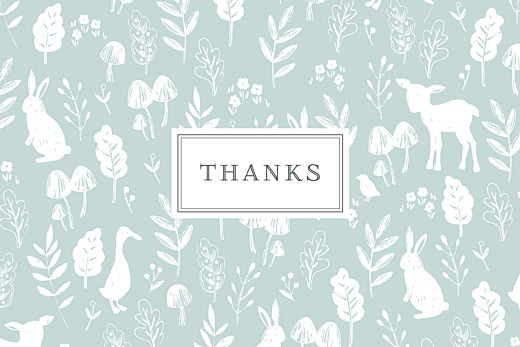 Baby Thank You Cards Fable (small) blue