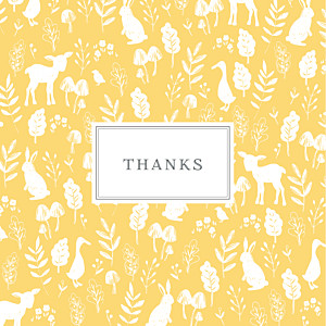 Fable yellow yellow baby thank you cards