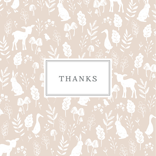 Baby Thank You Cards Fable pink
