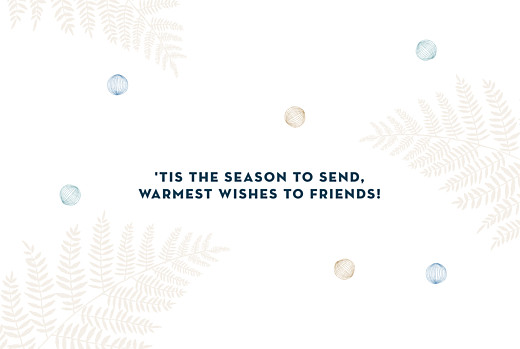 Christmas Cards Festive ferns 4 pages blue - Page 3