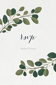 Daphné winter rsvp cards