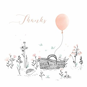Melody pink my lovely thing  baby thank you cards