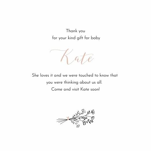 Baby Thank You Cards Melody pink - Page 3