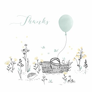 Melody green green baby thank you cards