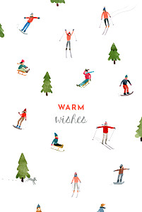 Alpine white white christmas cards