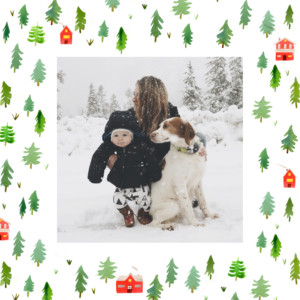 Christmas Cards Evergreen 4 pages