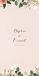 Daphné (4 pages) spring wedding menus
