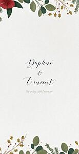 Daphné (4 pages) winter wedding menus