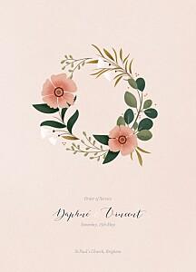 Daphné spring order of service booklets