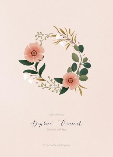 Wedding Order of Service Booklets Daphné spring