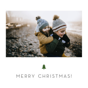 Christmas Cards Elegant sapling white