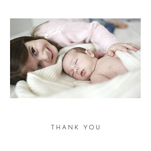 Elegant heart 4 pages (foil) white girls baby thank you cards