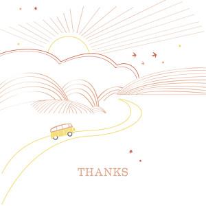 Sunshine 3 photos orange & white orange baby thank you cards