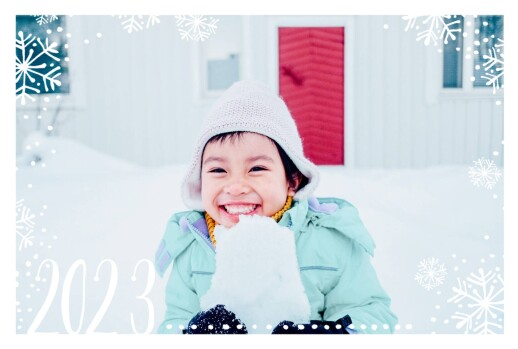 Christmas Cards Snow day (4 pages) white & blue