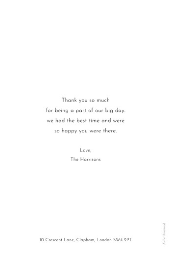Wedding Thank You Cards Foil frame minimalist white - Page 2
