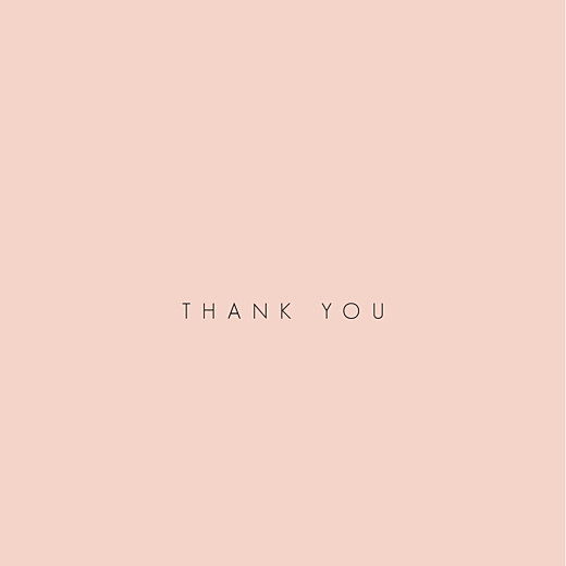 Baby Thank You Cards Pretty pastel 4 pages (foil) pink
