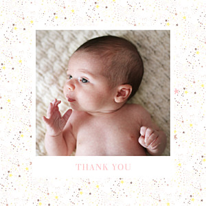 Liberty stars (foil) gold copper foil baby thank you cards