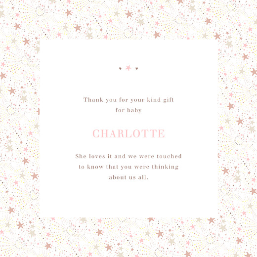 Baby Thank You Cards Liberty stars (foil) gold - Page 3