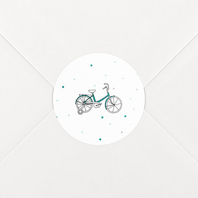 Little bicycle green baby stickers