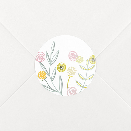 Baby Stickers Rustic floral white - View 2