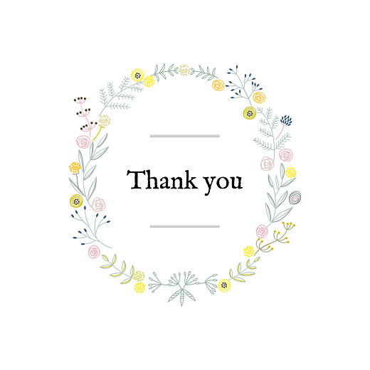 Baby Thank You Cards Rustic floral (4 pages) white