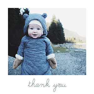 Darling (mini) thank you vintage baby thank you cards