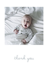 Darling thank you tomoë  baby thank you cards