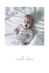 Darling with love black baby thank you cards