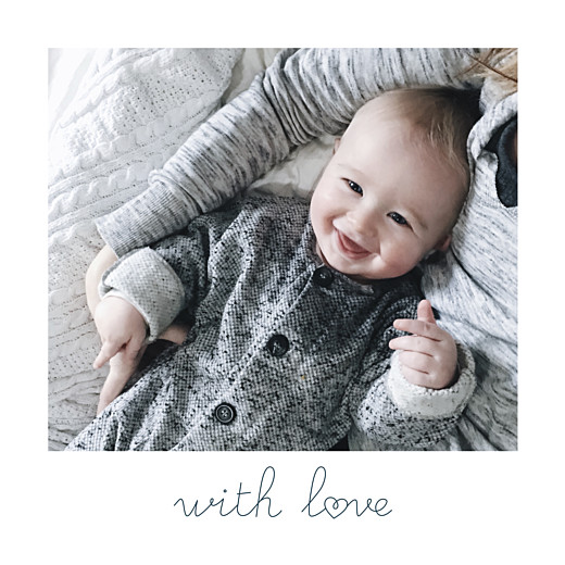 Baby Announcements Darling (mini) with love