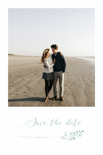 Save The Date Cards Country meadow green
