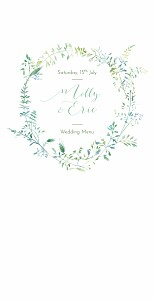 Country meadow 4 pages green wedding menus