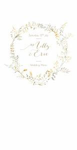 Country meadow sand wedding menus