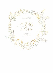 Country meadow sand order of service booklets