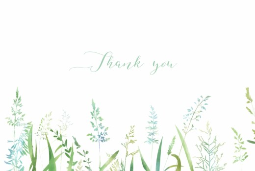 Wedding Thank You Cards Country meadow green