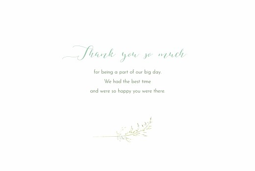 Wedding Thank You Cards Country meadow green - Page 3