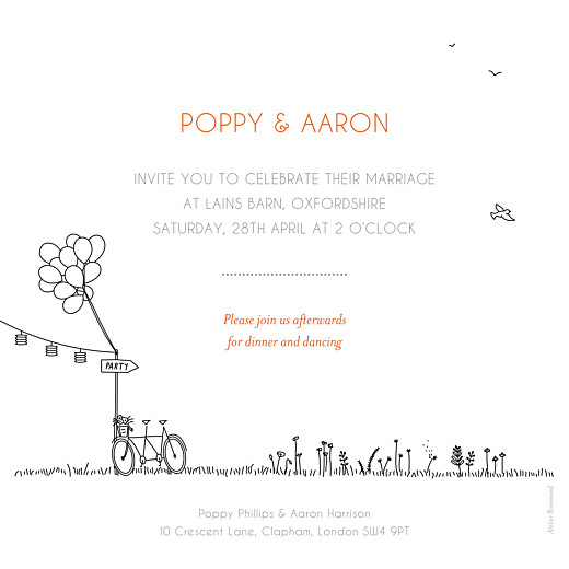 Wedding Invitations Rustic promise white - Page 2