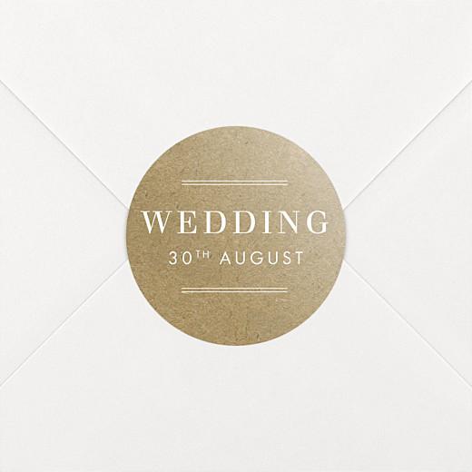 Wedding Stickers Kraft essential sand - View 2