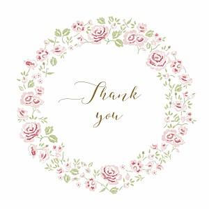 Rose garden white baby thank you cards