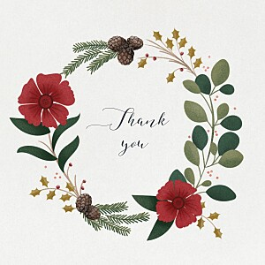Daphné 4 pages winter grey baby thank you cards
