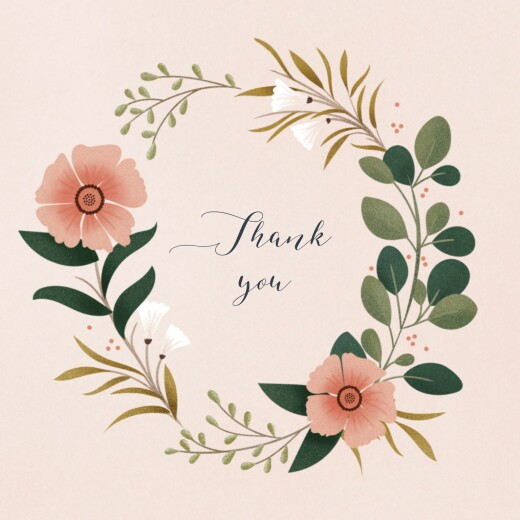 Baby Thank You Cards Daphné 4 pages spring