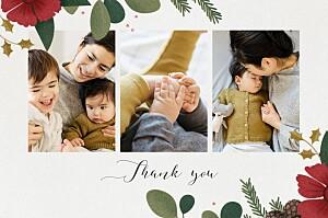 Daphné winter grey baby thank you cards