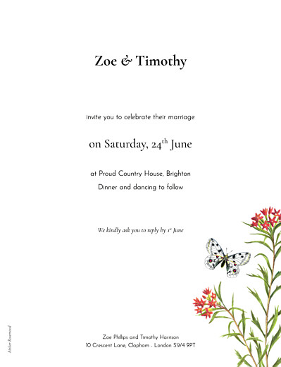 Wedding Invitations Flora & fauna white - Page 2