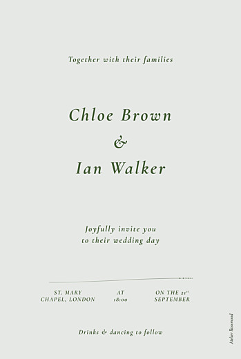 Wedding Invitations Forever ferns green - Page 2