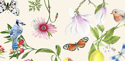 Wedding Place Cards Flora & fauna white - Page 2