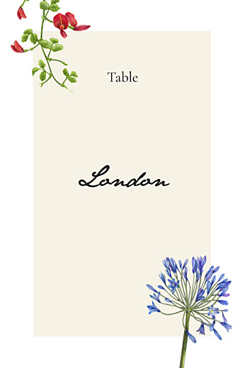 Wedding Table Numbers Flora & fauna white