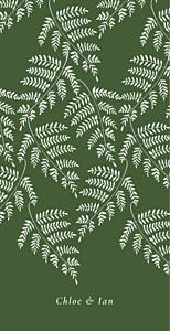 Forever ferns green wedding menus