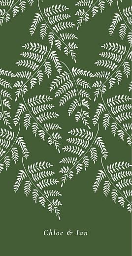 Wedding Menus Forever ferns green